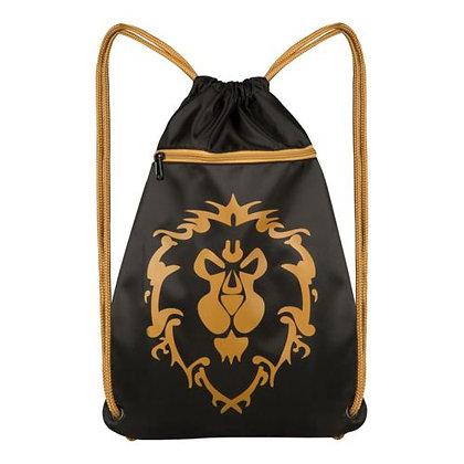 "World of Warcraft Alliance Loot Bag (14x19"") Drawstring Cinch Backpack"