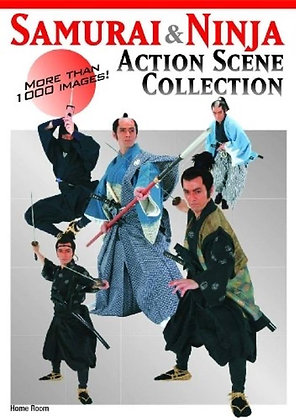 Samurai And Ninja Action Scene Collection: More than 1,000 Images Paperback