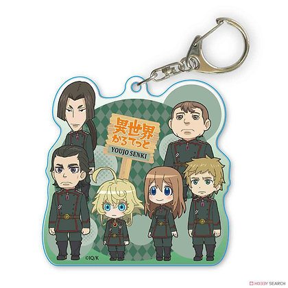 A Little Big Acrylic Key Ring Isekai Quartetto/Saga of Tanya the Evil