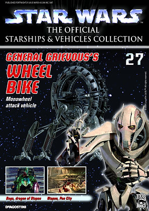 STAR WARS VEHICLES COLL MAG #27 GRIEVOUS WHEELBIKE DE AGOSTINI UK LTD