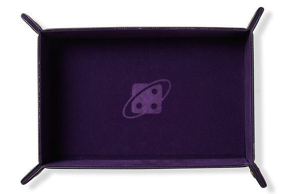 Dice Tray: Rectangle, Folding - Purple, Copper Buttons SIRIUS DICE