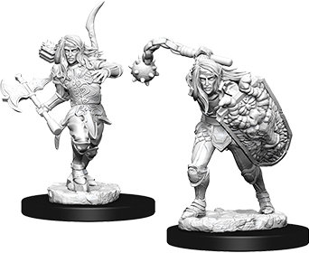 Pathfinder Deep Cuts Unpainted Miniatures: Male Elf Fighter WIZKIDS/NECA