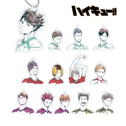 "Arma bianca Set of 13""Haikyu!!"" Trading Ani-Art Acrylic Key Chain Ver. B"