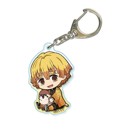 """Demon Slayer: Kimetsu no Yaiba"" GyuGyutto Acrylic Key Chain Agatsuma Zenitsu"