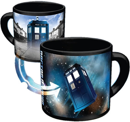 DOCTOR WHO DISAPPEARING TARDIS MUG  PHILOSOPHERS GUILD