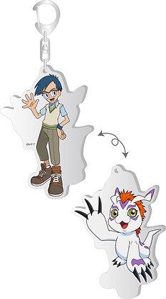 """Digimon Adventure:"" Changing Acrylic Key Chain Joe & Gomamon  by Brujula"