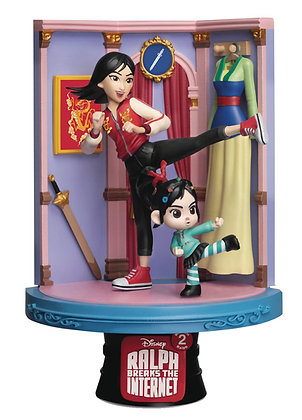 WRECK-IT RALPH 2 DS-054 MULAN D-STAGE SERIES 6IN STATUE  BEAST KINGDOM CO., LTD