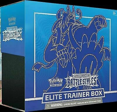 NEW IN HAND!! Pokemon TCG S&S Battle Styles Elite Trainer Box Blue