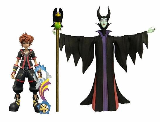 DIAMOND SELECT TOYS Kingdom Hearts 3: Maleficent & Sora Figures