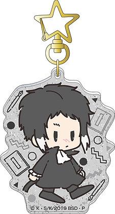 """""""Bungo Stray Dogs"""" Acrylic Key Chain Akutagawa Ryunosuke Retro Chibi Character"""
