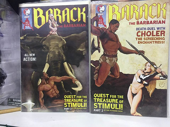 BARACK THE BARBARIAN #2 & #3 D. D. P. (W) Larry Hama (A) Christopher Schons (CA)