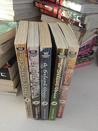 A Silent Voice Vol, 1,2,3,4,5 Manga Books