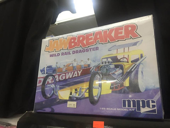 C.P.M. MPC MPC821 1:25 Scale Jawbreaker Rail Dragster Model Kit Highly Detailed