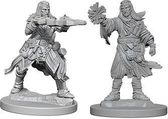 Pathfinder Deep Cuts Unpainted Miniatures: Male Human Wizard WIZKIDS/NECA
