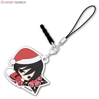 Attack on Titan Bocchi-kun Acrylic Charm (Christmas Ver.) Mikasa by ACG