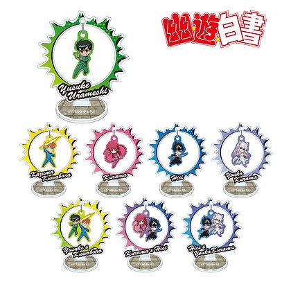 "Set of 8  ""YuYu Hakusho"" Trading Yurayura Acrylic Stand"