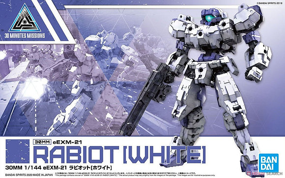30 MINUTE MISSION 23 EEXM-21 RABIOT WHITE MDL KIT   BANDAI HOBBY