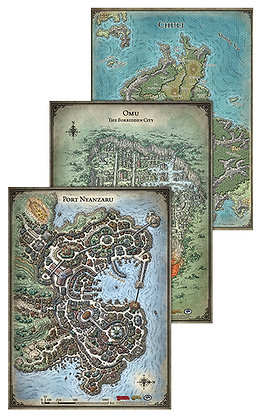 Dungeons and Dragons RPG: Tomb of Annihilation - Map Set GALE FORCE NINE