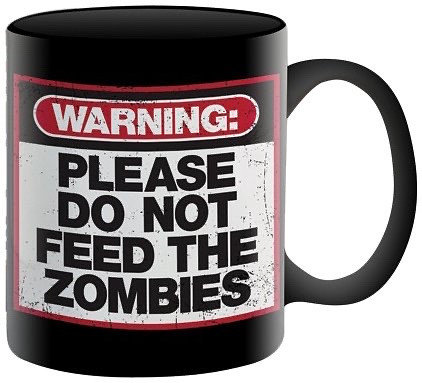 ZOMBIE WARNING MUG   NMR DISTRIBUTION AMERICA