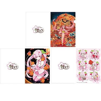 "Hirosaki Neputa Festival x ""Hatsune Miku"" Sakura Miku Clear File Set"