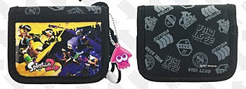 """Splatoon 2"" RF Wallet Yellow VS Purple Pattern Black"