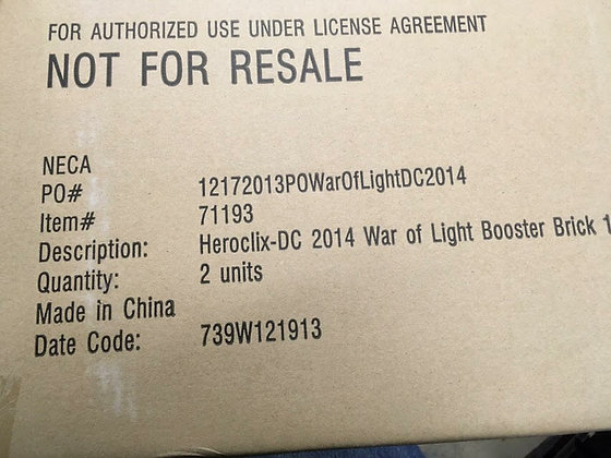 DC Heroclix - War of Light Wave 1 Booster Case (20 Boosters)