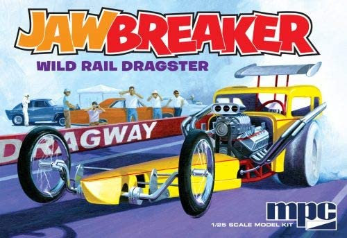C.P.M. MPC MPC821 1:25 Scale Jawbreaker Rail Dragster Model Kit