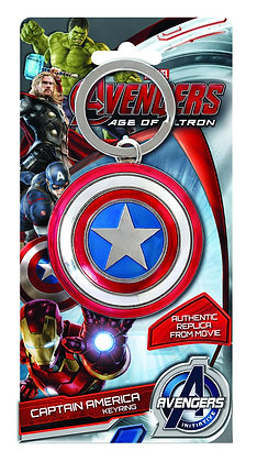 AVENGERS AGE OF ULTRON CAPTAIN AMERICA SHIELD PEWTER KEYRING MONOGRAM PRODUCTS W