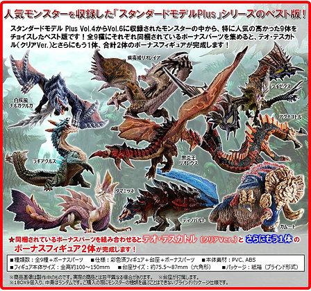 Capcom Figure Builder Monster Hunter Standard Model Plus The Best Vol.4.5.6 (Set