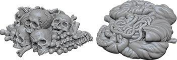 WizKids Deep Cuts Unpainted Miniatures: Pile of Bones & Entrails WIZKIDS/NECA