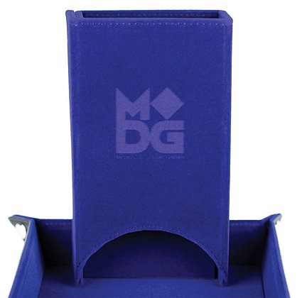 Fold Up Velvet Dice Tower: Blue METALLIC DICE COMPANY