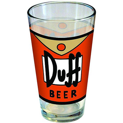 SIMPSONS DUFF BEER PINT GLASS   ICUP INC