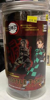 """Demon Slayer: Kimetsu no Yaiba"" Bottled T-shirt A Black (XL Size)"