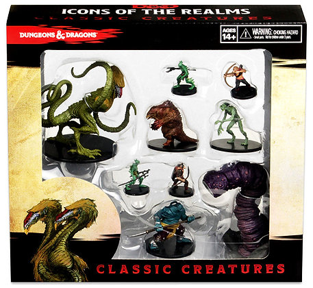 Dungeons & Dragons Fantasy Miniatures: Icons of the Realms Classic Creatures Box