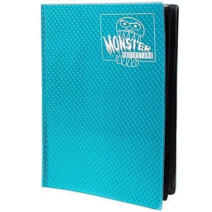 Monster Trading Card Album: 4 Pocket Holofoil Aqua Blue