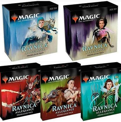 Set of 5 Magic the Gathering Pre Release Deck Ravnica Allegiance