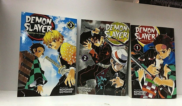 Demon Slayer: Kimetsu no Yaiba, Vol. 1,2,3,6,7,12,13,15,16 (9 Manga Books)