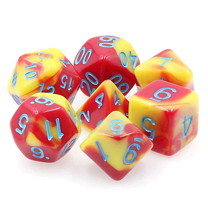 DARGON'S DICE - 7CT HONOR GUARD - 16MM OPAQUE FUSION DICE SET