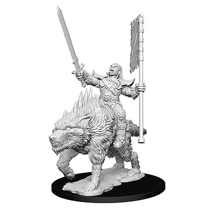 Deep Cuts Unpainted Minis: Orc On Dire Wolf