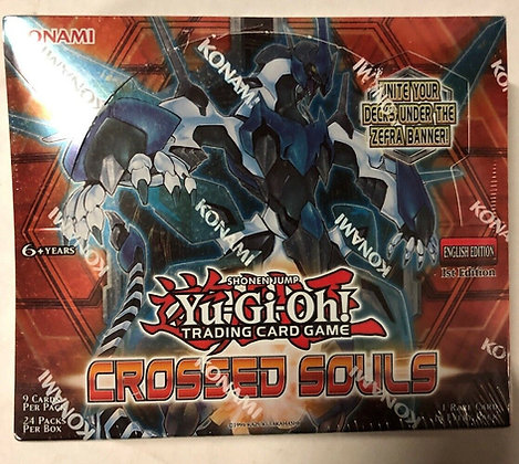 YUGIOH SHONEN JUMP CROSSED SOULS 1ST EDITION BOOSTER BOX FACTORY SEALED