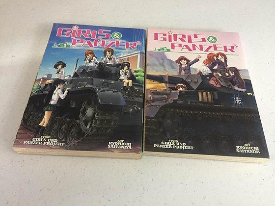 Girls Und Panzer Vol 1,2 Manga (2 Books)