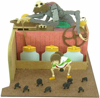 """Miniatuart Kit Studio Ghibli Mini """"Spirited Away"""" Kamajii & Chihiro Paper Craft"""
