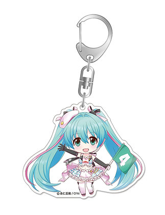 Nendoroid Plus Hatsune Miku GT Project Racing Miku 2019 Ver. Acrylic Key Chain 1