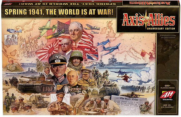 Axis & Allies Anniversary Edition Spring 1941 The World is at War Strategy Board