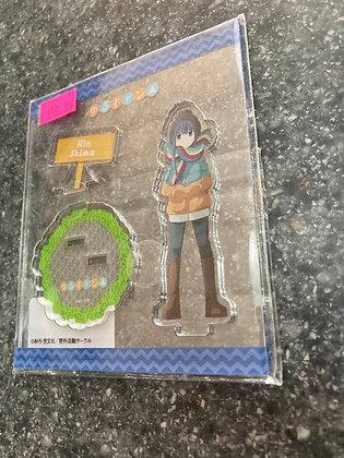 """Yurucamp"" Acrylic Figure Rin  by  Kuromea"