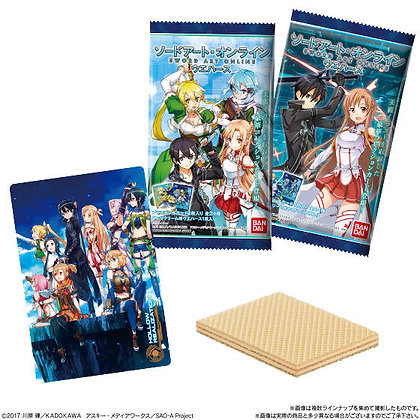 "Box of 10 ""Sword Art Online"" Wafer with collectiable cards"