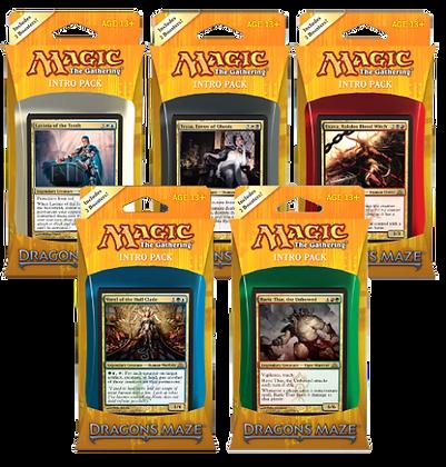Magic the Gathering  Dragon's Maze   Set of 5 Sealed Intro Decks