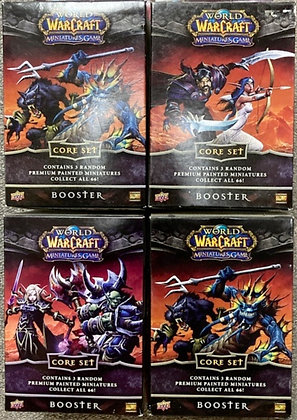 Lot of 4 Upper Deck World of Warcraft Miniatures Core Set Booster Boxes