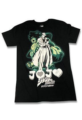 JOJO -JoJo's Bizarre Adventure JOTARO & STA JOTARO & STAR PLATINUM MEN'S T-SHIRT