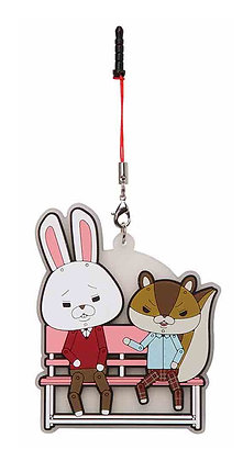 """Kamiusagi Lope"" Lope & Akira Hayashi Syoten Bench Rubber Mascot"